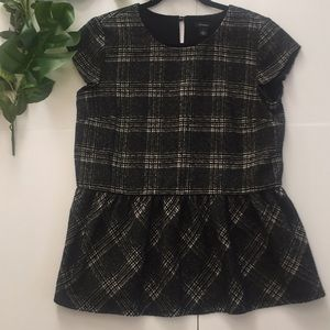 Halogen - Plaid Peplum Top